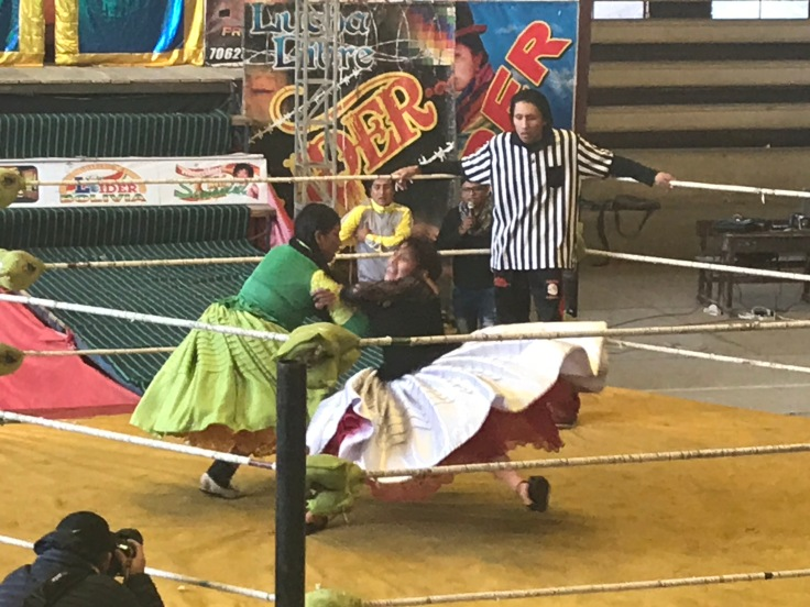 cholitas wrestling actie