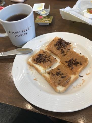 ontbijt met pindakaas